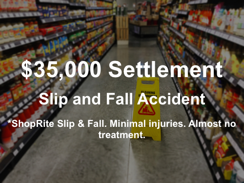 Paterson Slip & Fall Accident Lawyer Case Result